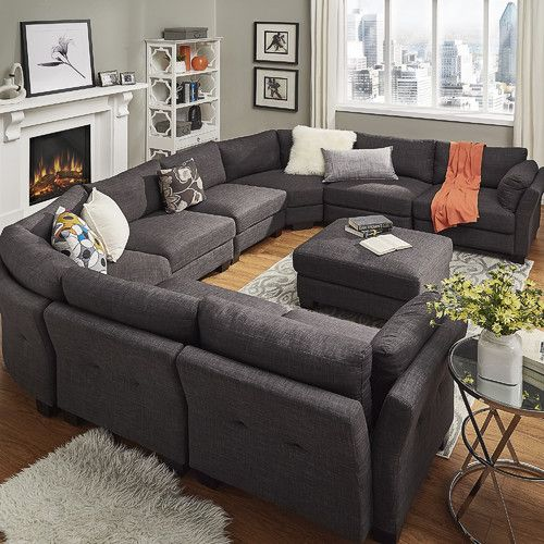 Sectional For Basement Wayfair Alkmene 8 Seat U Shaped
