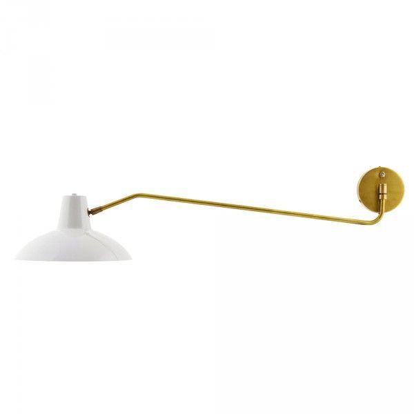 House Doctor, Væglampe, Desk - lys grå/messing - FORMajour