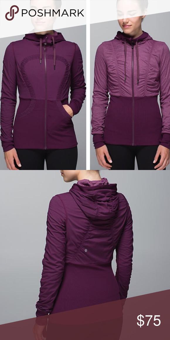 Reversible dance studio jacket Plum. Runs small. lululemon athletica Jackets & Coats