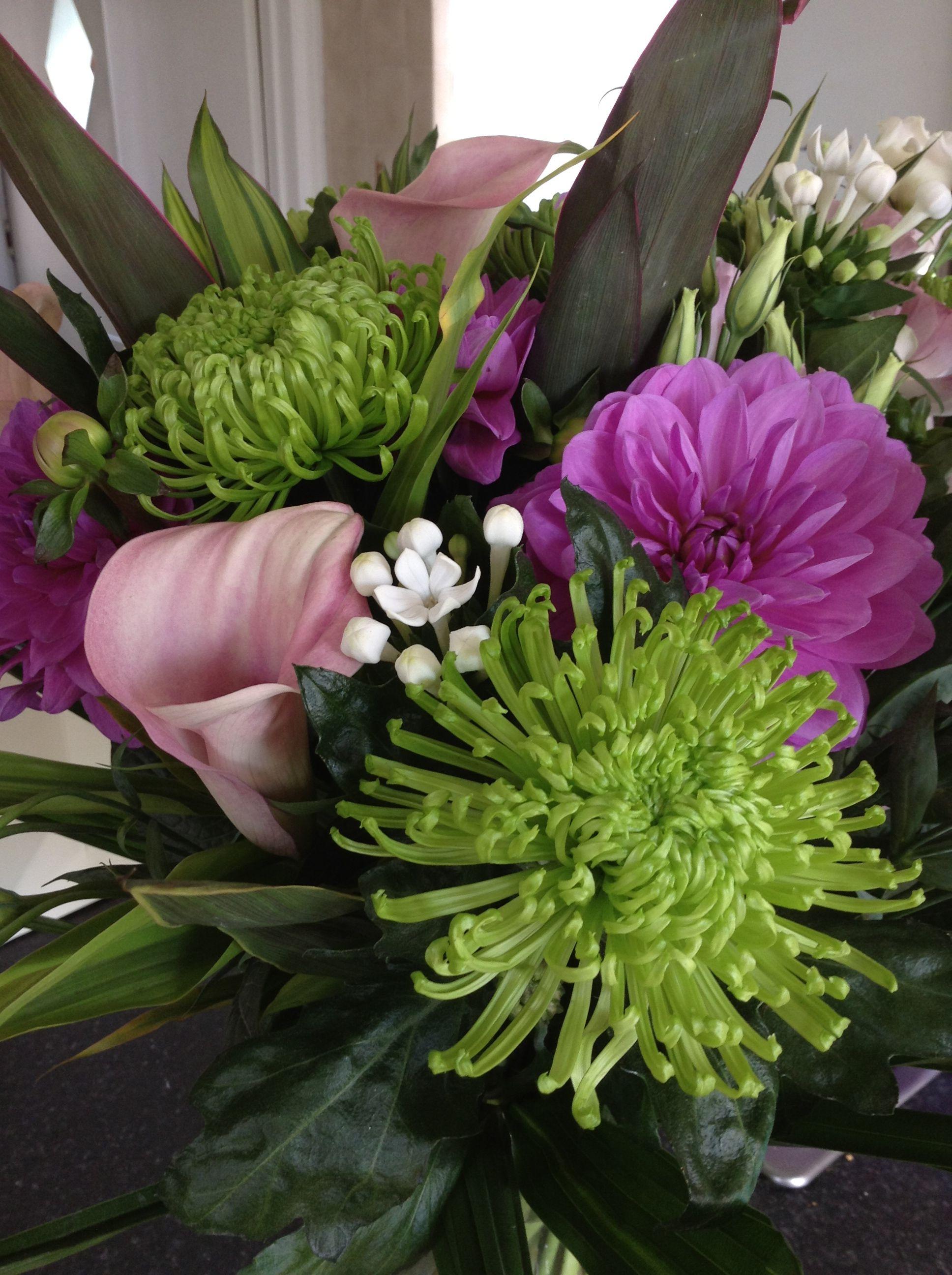 Beautiful Birthday Flowers Calla Lilies Blooms Bouvardia And
