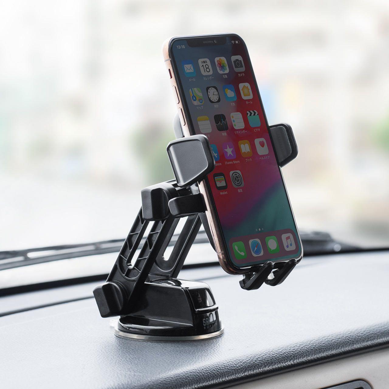 スマートフォン用車載ホルダー オンダッシュタイプ ワンタッチ着脱 ダッシュボード オートホールド 角度調整 ゲル吸盤 スマートフォン 200 Car068の販売商品 通販ならサンワダイレクト スマートフォン ホルダー 車載