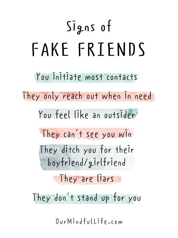 9 Signs of Fake Friends: How To Tell If You Should Cut Them Off