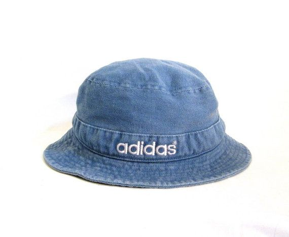 98d13abb898 Club Kid 90s Adidas Denim Bucket Hat by ACTUALTEEN on Etsy