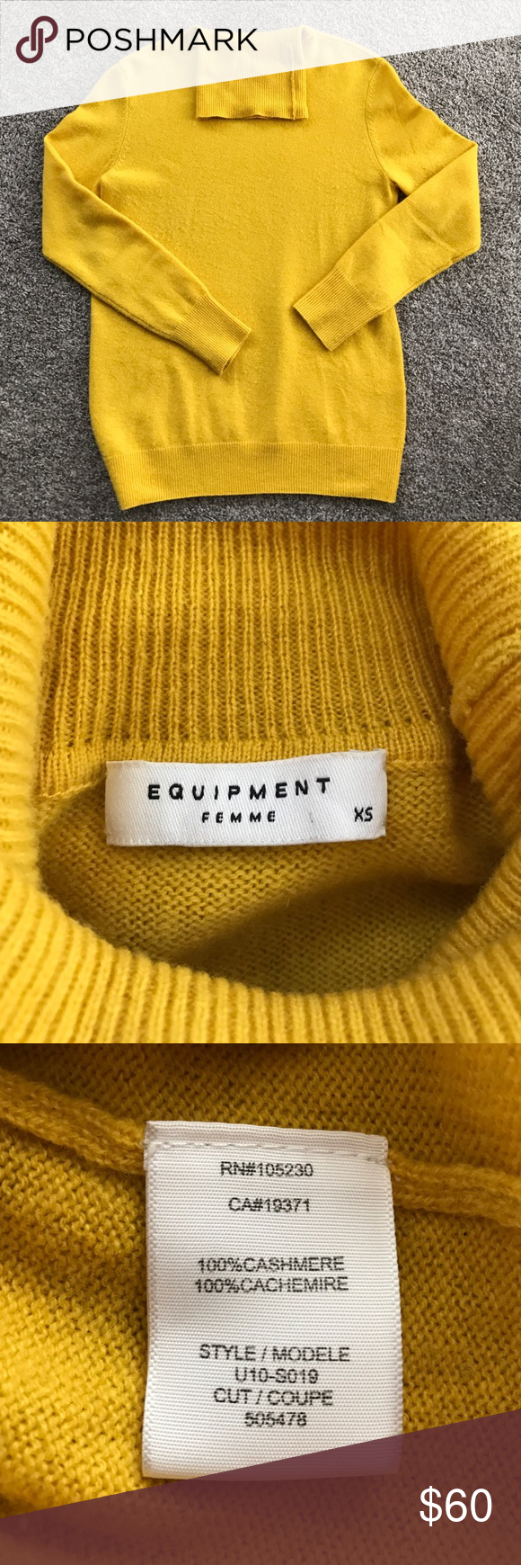 Equipment Cashmere Sweater Good condition. Have some pulls. Equipment Sweaters Cowl & Turtlenecks