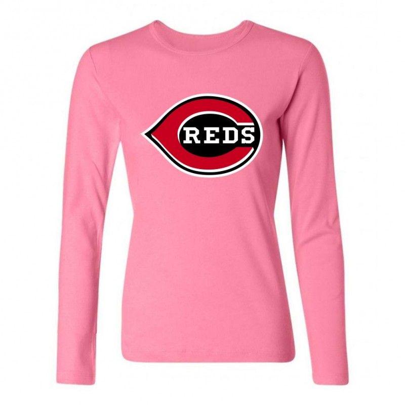 Cincinnati Reds Team Logo Long TShirts