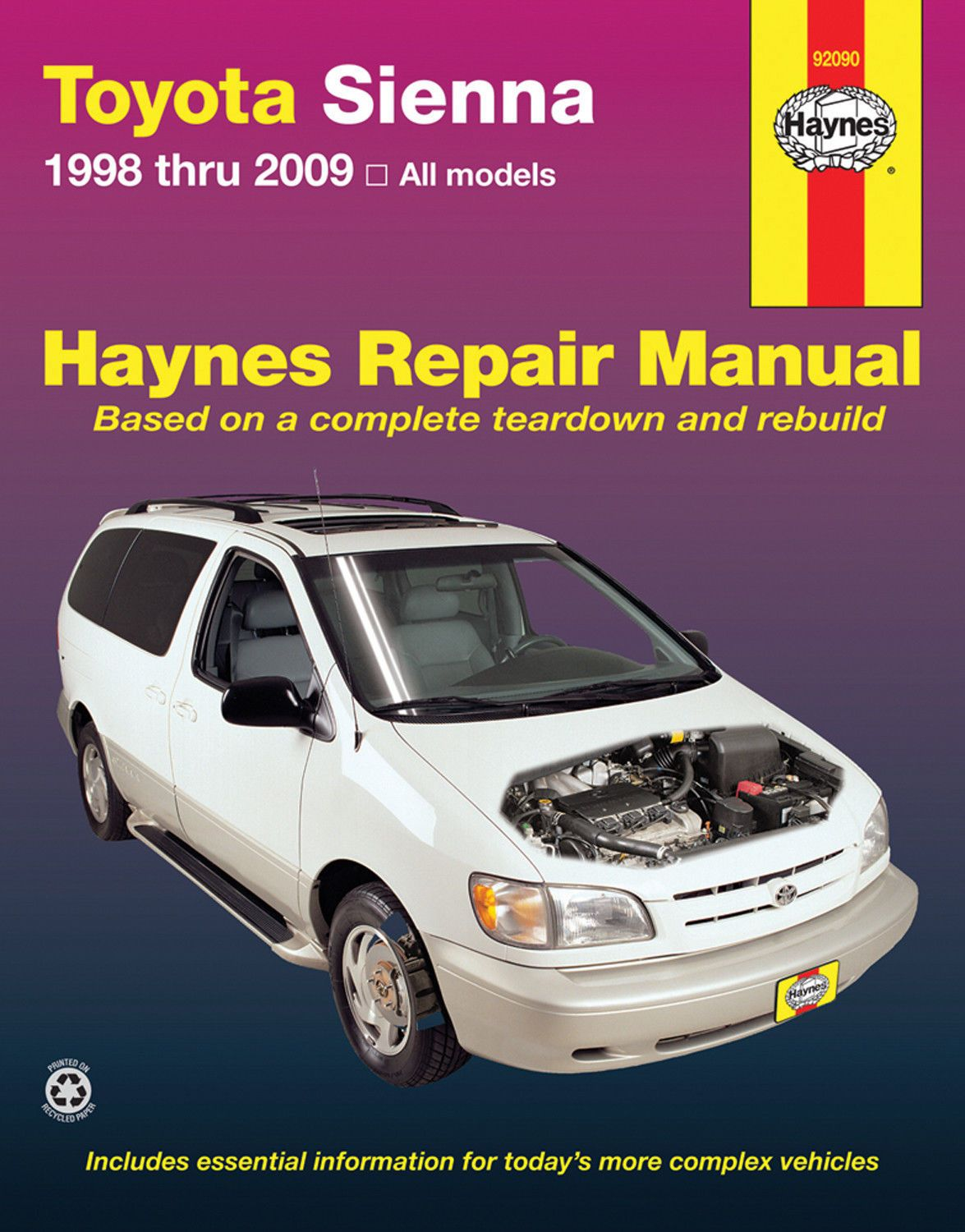 ManualsPRO - Repair Manual Haynes 92090 fits 98-10 ToyotaSienna  https://t.co/2iyn3LsJQM https://t.co/yHGHUgNr2X
