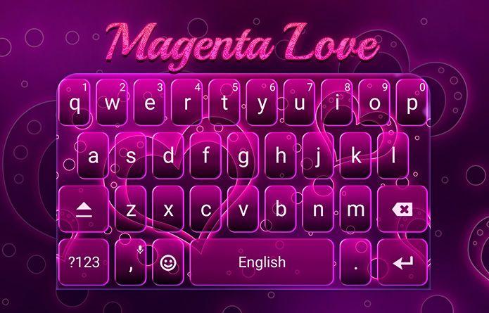 magenta love theme android theme design wallpaper keyboard