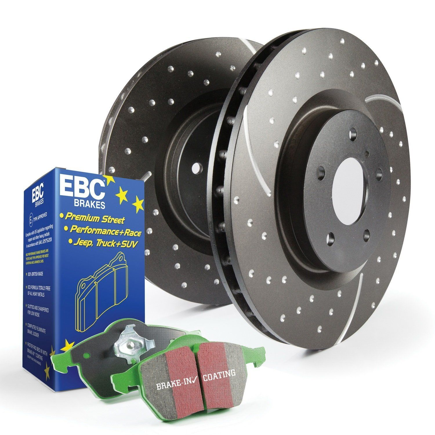 Brake Pads And Rotors Prices >> Ebc S3kf1128 Stage 3 Truck And Suv Brake Kit New Pins From