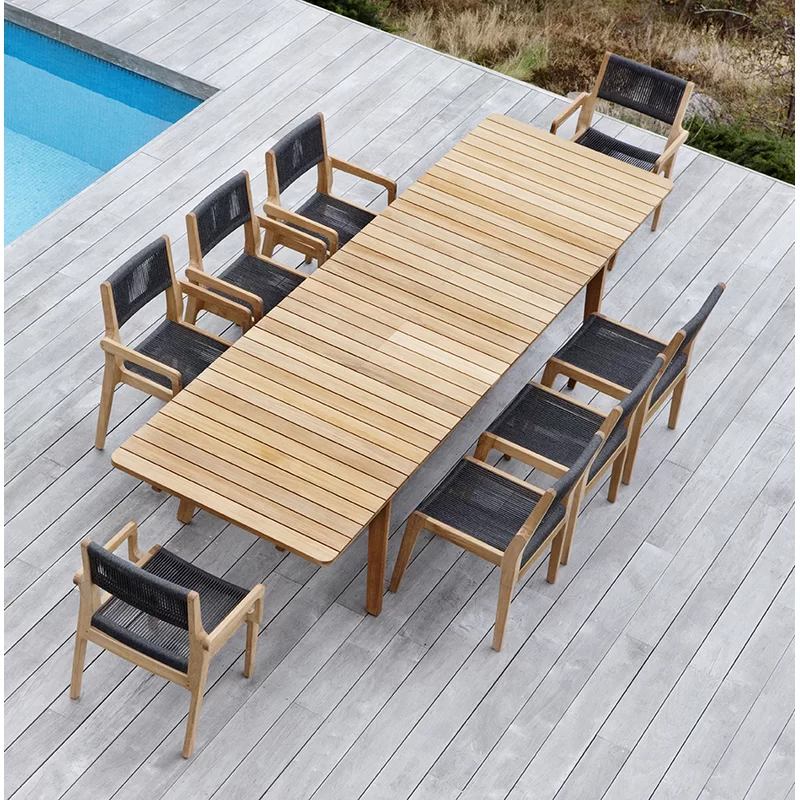 Skagen Extendable Teak Dining Table In 2020 Solid Wood Dining Table Scandinavian Furniture Design Teak Dining Table