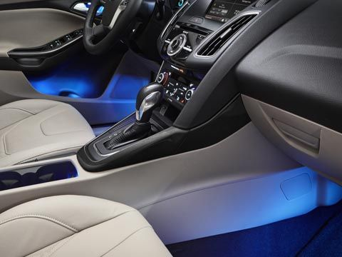 Ford Focus Ambient Lighting Available Ambient Lighting Illuminates The Interior With Color In Both The Front And Rear Footwells It Also Lights The Cupholders