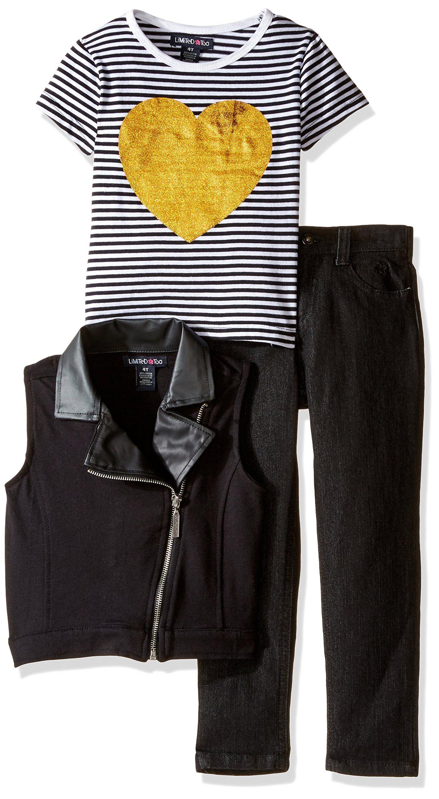 Limited Too Girls Denim Jacket and Dress Set