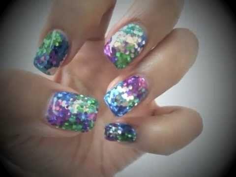 2 Minute Glitter Bling Gel Nails Tutorial Qq二分鐘閃甲分享 Gel Nail Tutorial Bling Nails Nails