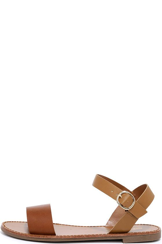 fb9029c8003acb Hearts and Hashtags Tan Flat Sandals
