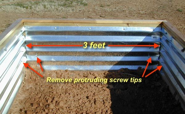 Homemade Galvanized Raised Garden Beds Raised Bed Gardening Corrugated Sheet Metal Beds Bed Assembly Raised Garden Beds Garden Beds Raised Garden