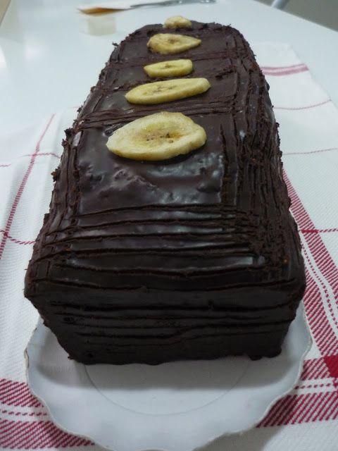 choco banana chocolate and banana plumcake bizcocho de chocolate http://cocinandoconsencillez.blogspot.com.es/2013/02/choco-banana.html