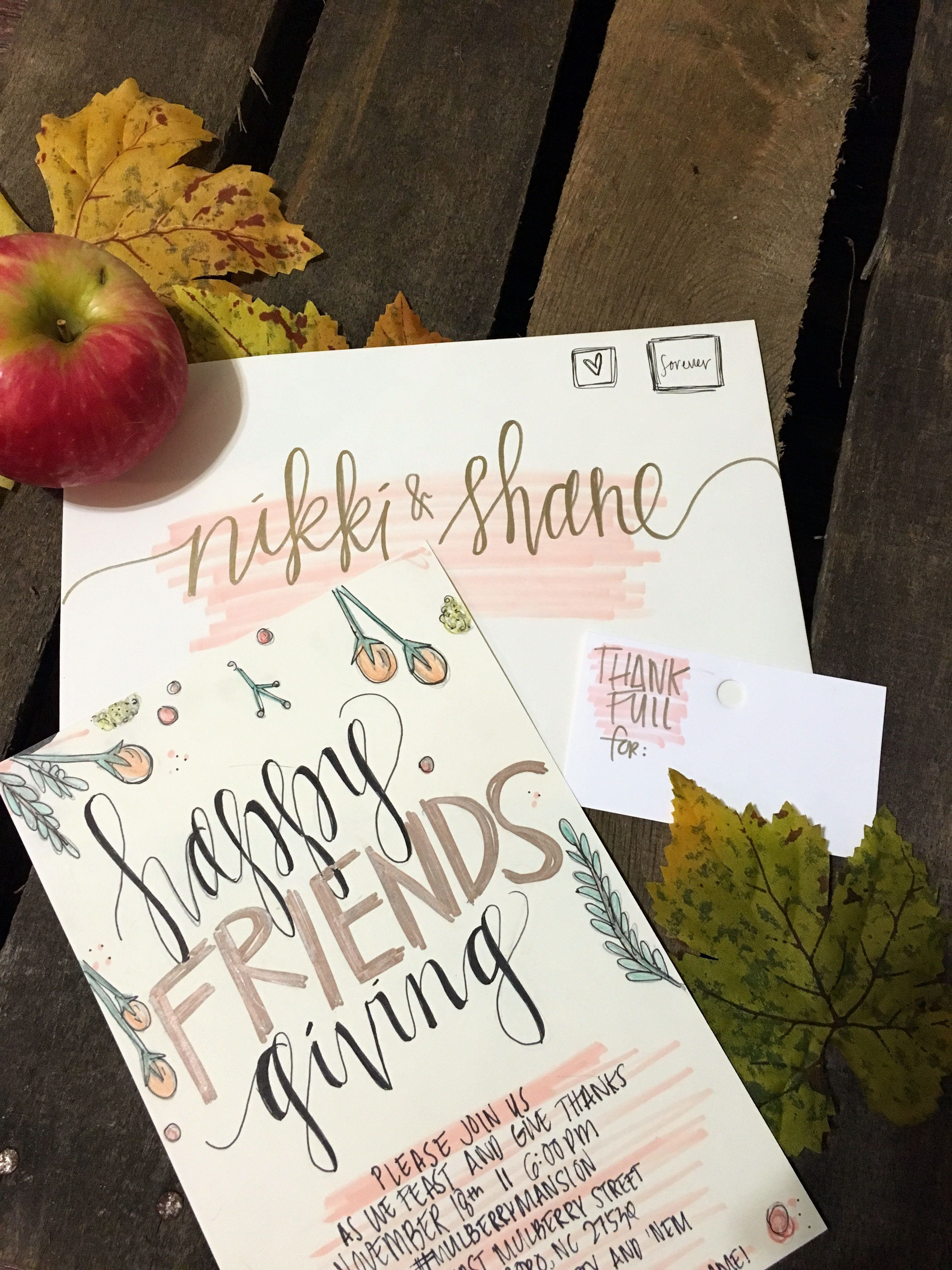 Handwritten Modern Calligraphy Wedding Invitations, Envelope ...