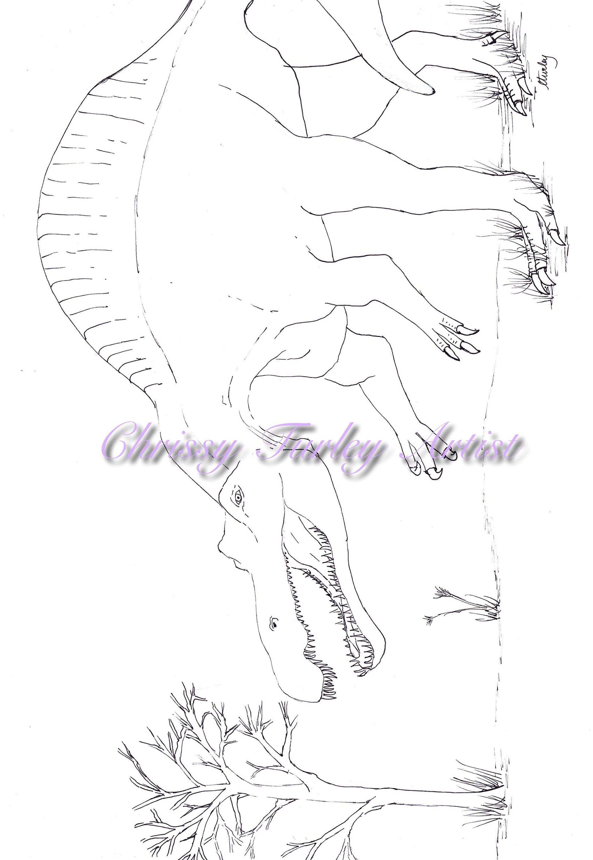 Spinosaurus Dinosaur Colouring Page / Printable ...