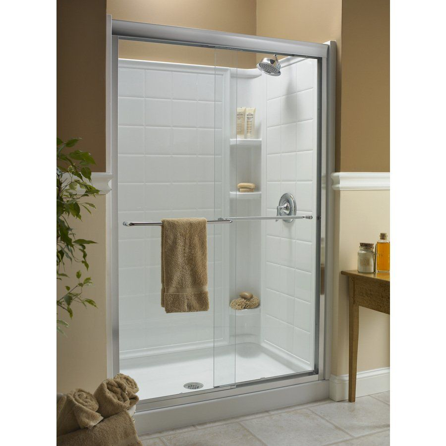 KOHLER Fluence 44-in to 47-in W x 70-in H Frameless Sliding Shower ...