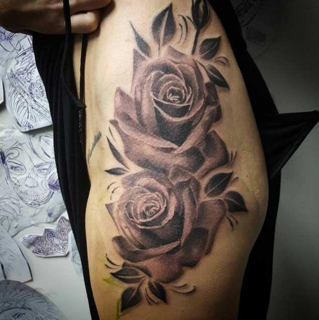 44 Awesome Hip Rose Tattoos: 36 Wonderful Waist & Hip Tattoos For Women