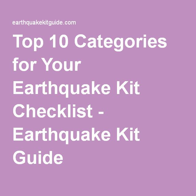 Top 10 Categories for Your Earthquake Kit Checklist - Earthquake Kit Guide
