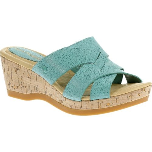 Hush Puppies New Teal Janae Farris Leather Sandal