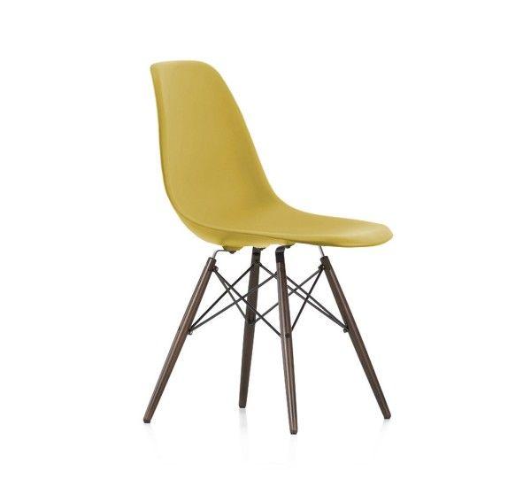 Vitra Eames Plastic Side Chair Dsw Dark Maple Eames Plastic Chair Chair Side Chairs
