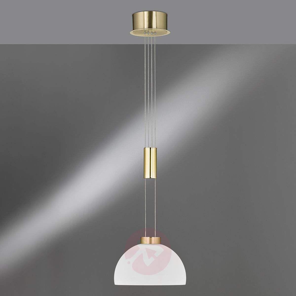 Szklany Klosz Lampa Wisząca Shine Led 1 Punktowa Lampy