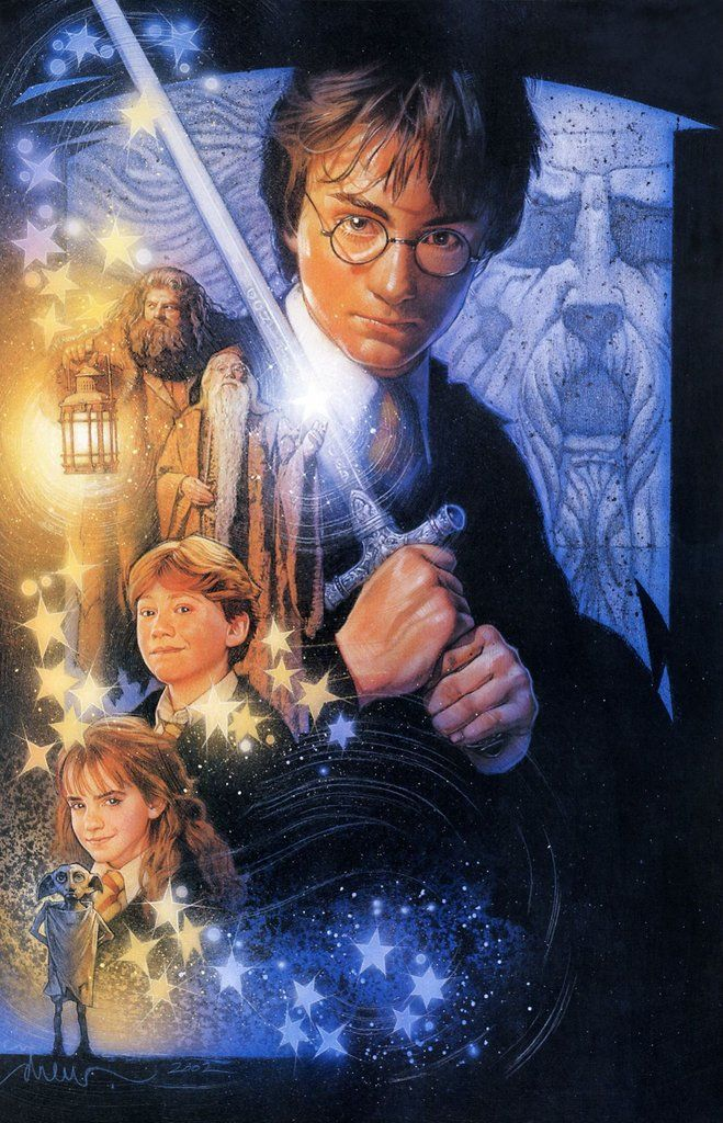 Drew Struzan Harry Potter And The Chamber Of Secrets Unused Movie Studios Dropping Aw Harry Potter Artwork Harry Potter Art Harry Potter Fantastic Beasts