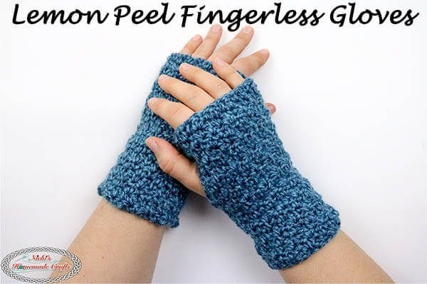 How to Crochet Easy Beginner Fingerless Gloves - Free Pattern #minioncrochetpatterns Learn how to Crochet the Learn how to crochet the Lemon Peel Infinity Scarf using the Lemon Peel Stitch using this free crochet pattern. The stitch comes with a Photo and Video tutorial also. It's an easy beginner crochet pattern that is free. #free #crochet #pattern #freecrochetpatterns #crochetpattern #lemon #peel #seedstitch #seed #crochetscarf #scarf #infinityscarf #minioncrochetpatterns