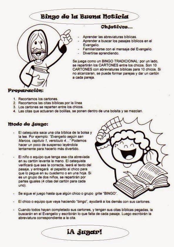 El Rincón De Las Melli Bingo De La Buena Noticia Bingo Bíblicos Catequesis