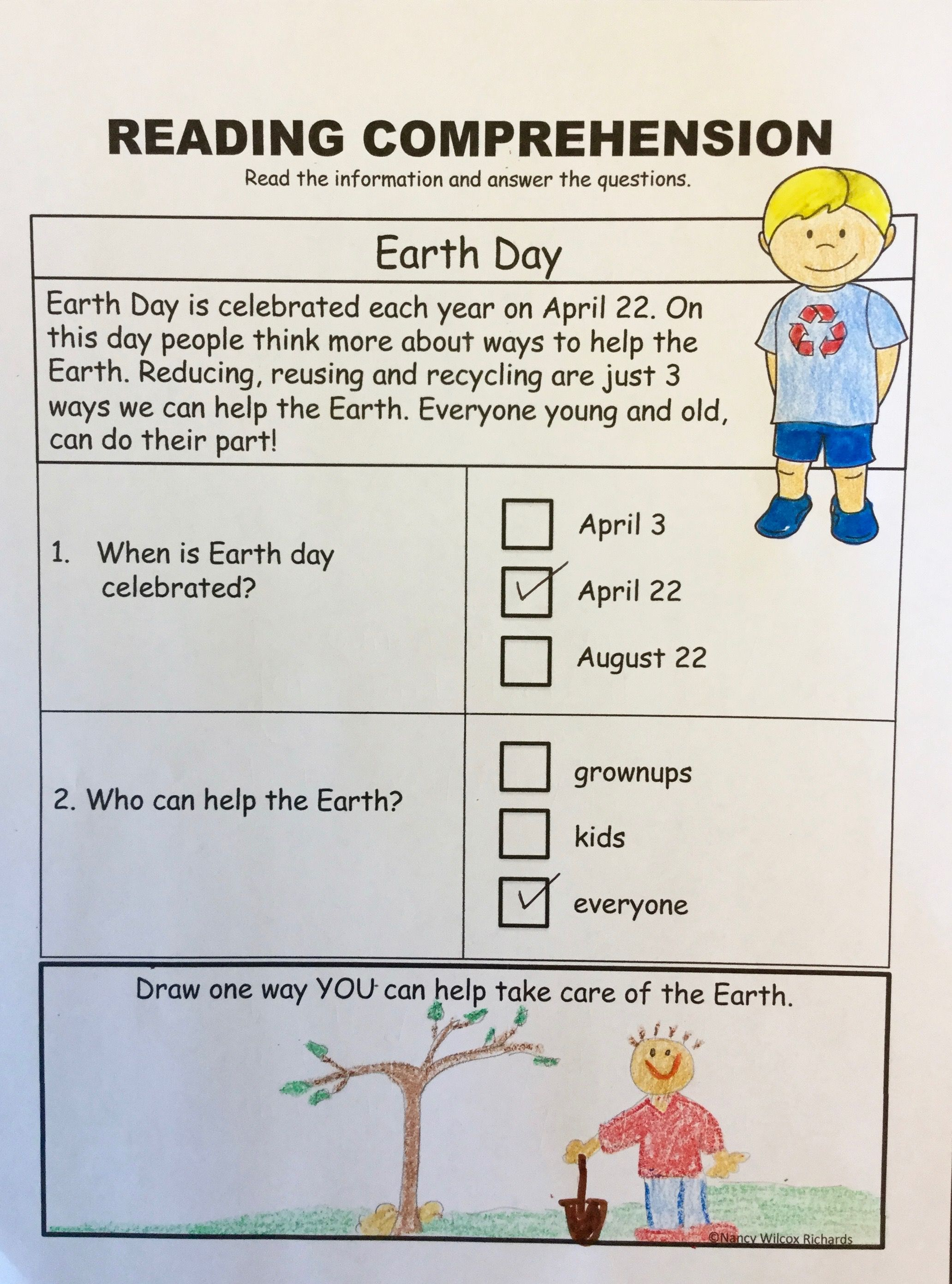 Earth Day Activities With Writing Math And Earth Day