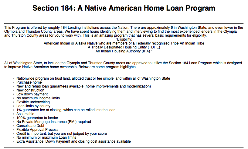 An Overview Of The Section 184 Home Loan Guarantee Program Pin This To Share The Knowledge Debt Relief Programs Home Loans Commercial Real Estate