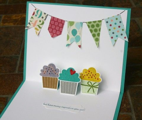 Stampin Up Pop Up Cupcake Birthday Card Create A Cupcake カード