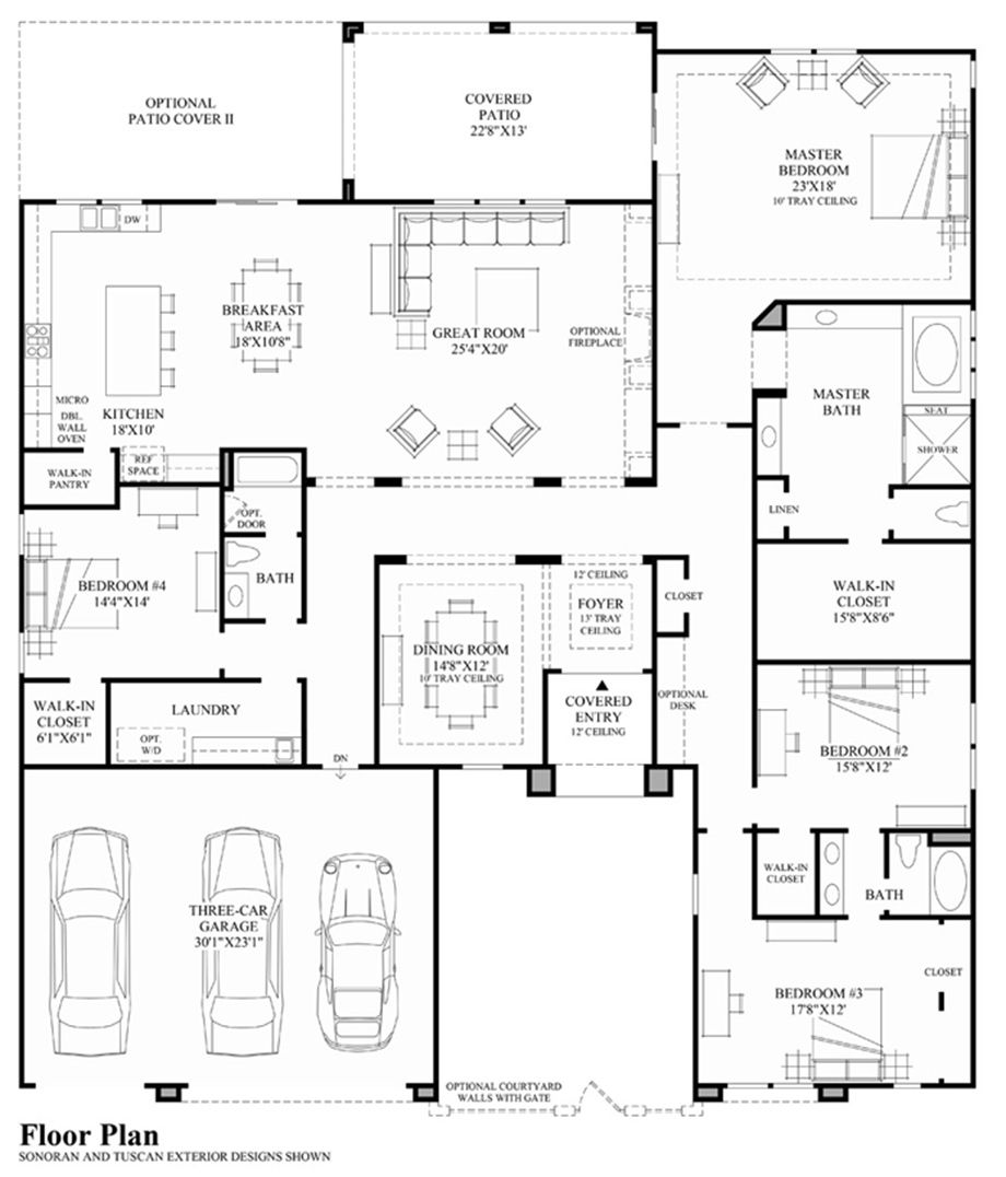 Savona floor plan - take off the whole right side wing and