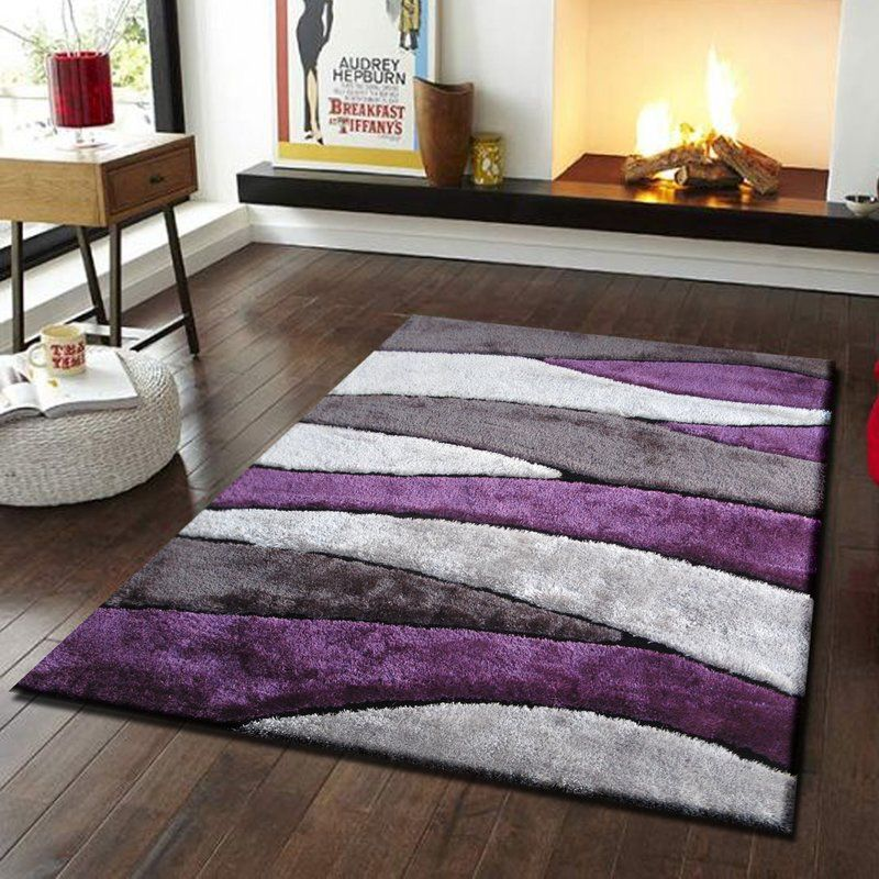Living Shag Purple Gray Rug Purple Living Room Purple Home