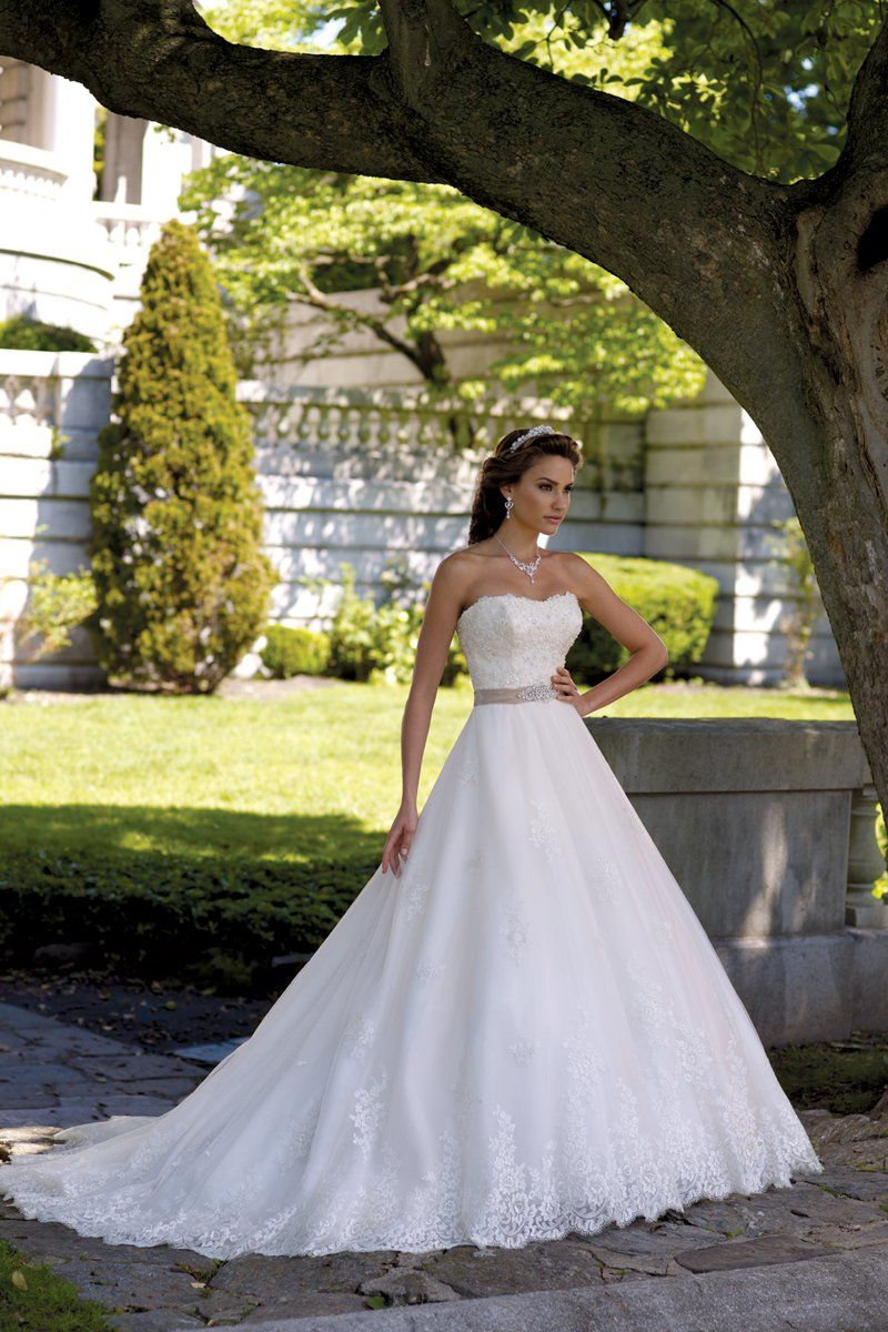Formal Ivory White $$ - $701 to $1500 A-line Ball Gown Ballroom ...