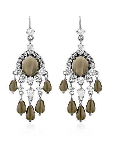 Juicy Couture   Rhinestone Chandelier Earrings    I need these now!
