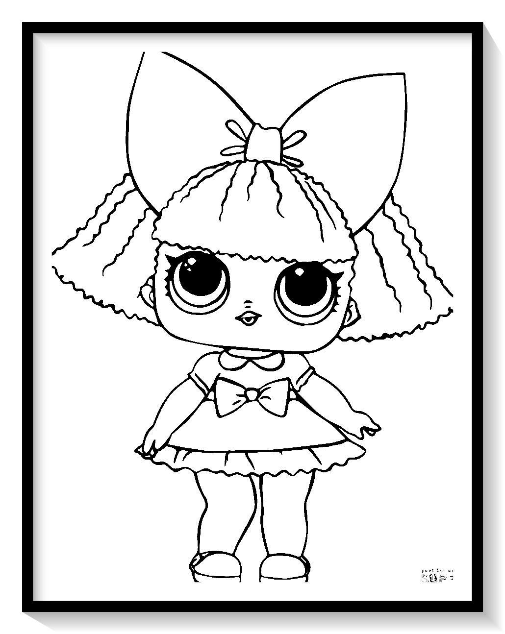 muñecas lol para colorear  dibujos para colorear gratis