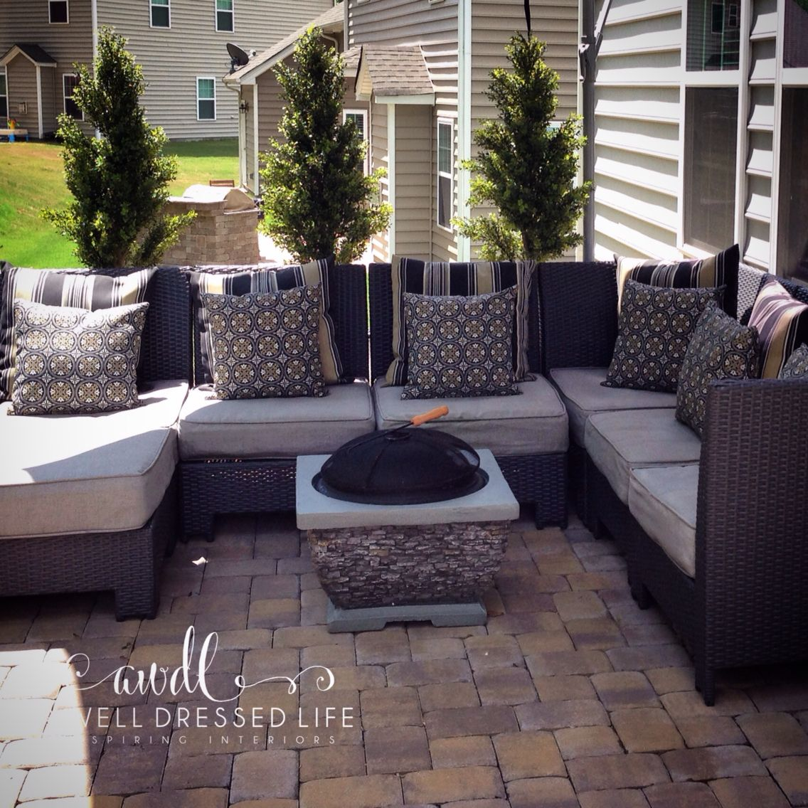 backyard patio furniture with ikea tree backdrop at home with
