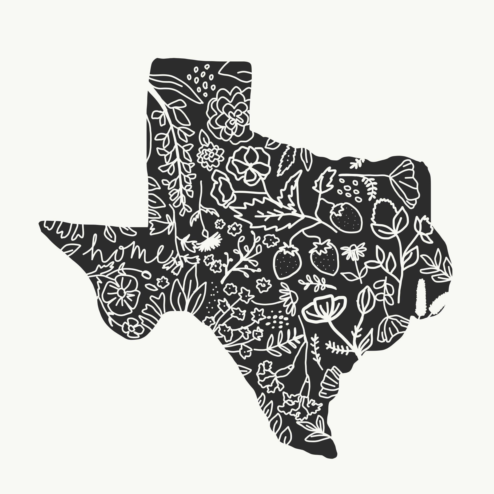 Floral Texas Wildflower Flower SVG PNG Digital Download
