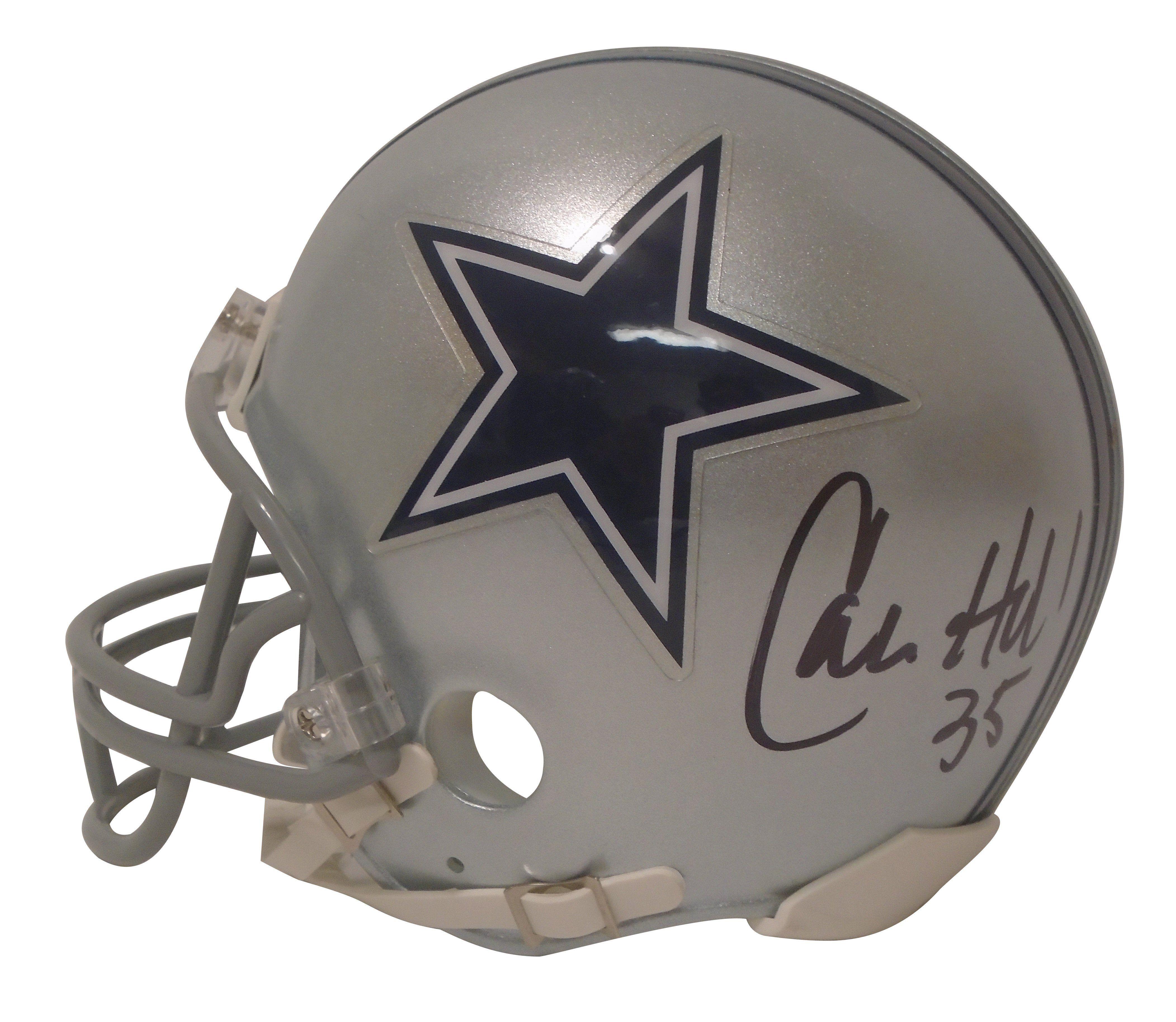 Calvin Hill Autographed Dallas Cowboys Riddell Mini