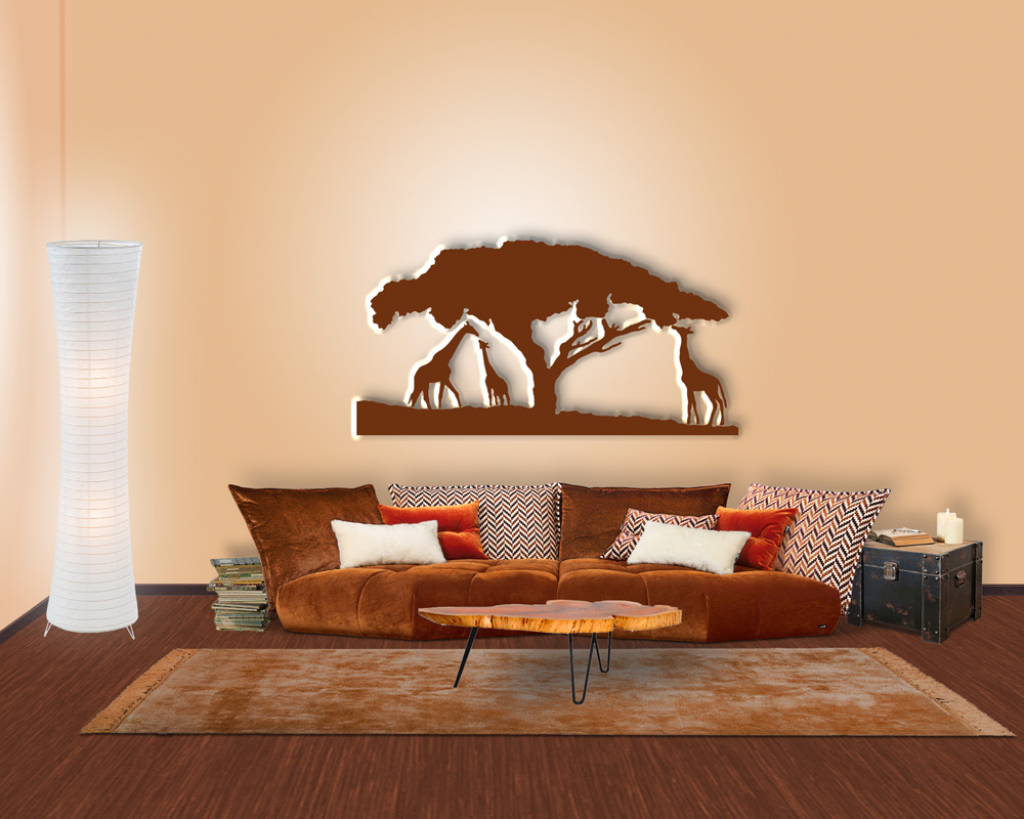 Wohnzimmer Afrikanisch Dekorieren Ideen  Wanddekoration
