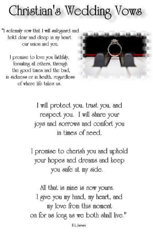 Christian Grey\'s wedding vows from the third book of the trilogy ...
