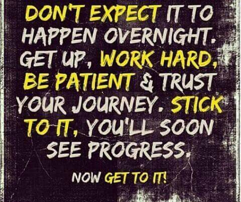 The Hardest Thing For My Clients To Grasp While In Their Fitness Journey Is  PATIENCE! Stay Stay STAY On Track, Work Hard And You WILL See Progress!