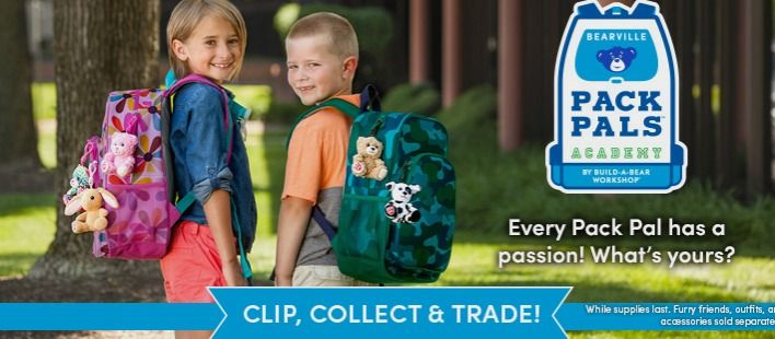 Build A Bear Bearville Pack Pals Make Your Backpack Pop