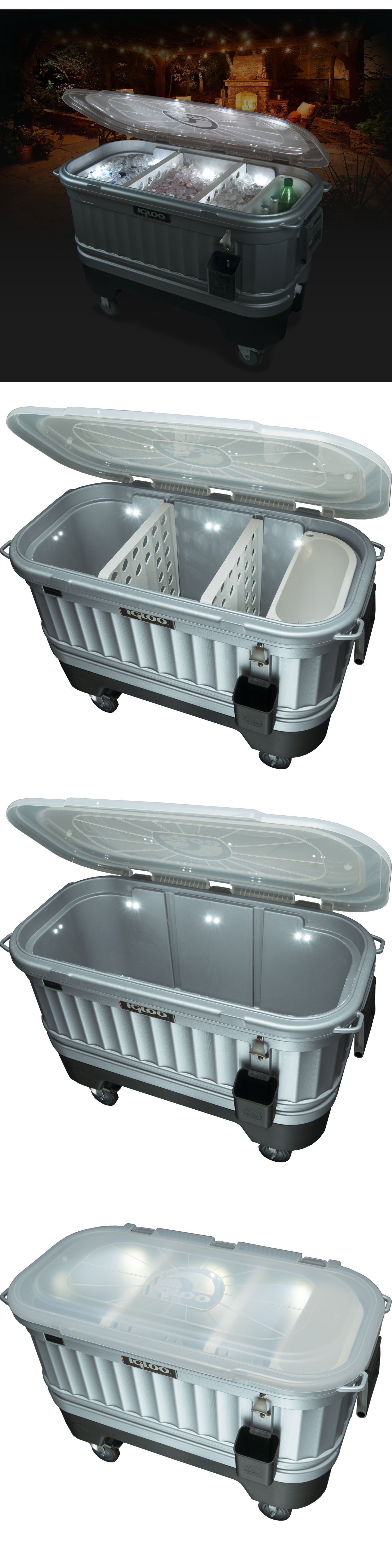 Ice Chests And Coolers 79691: Portable Cooler With Wheels Patio Ice Chest  Beverage Outdoor Powered