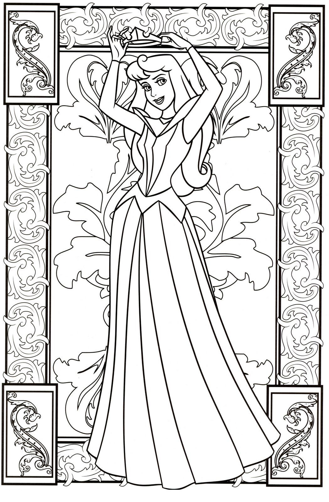 Sleeping Beauty Jpg 1049 1600 Disney Princess Coloring Pages Disney Coloring Pages Princess Coloring Pages
