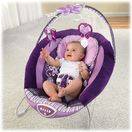 5784c5745 New fisher price sugar plum deluxe bouncer with overhead mobile + ...