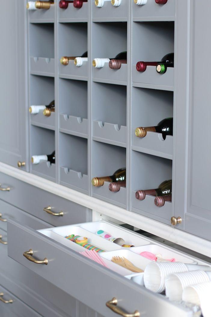 Jillian Harris Ikea Sektion Kitchen Not the wine rack