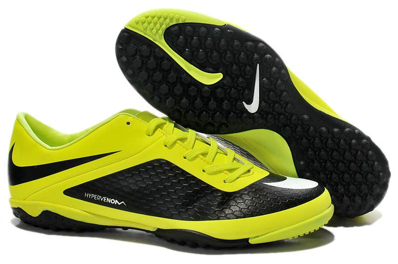 Discount Sale Nike Hypervenom Phelon TF Soccer boots white black yellow In the UK online